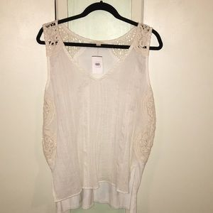 NWT LOVESTITCH  Off White Crochet Blouse  Large